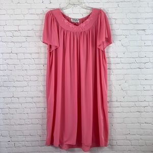 VTG Miss Elaine Nightgown Sleepwear Pink Size 2X